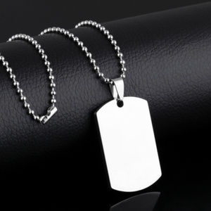 Other - Stainless Steel Dog Tag Military Silver Necklace